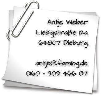 Impressum,Antje Weber,Liebigstraße 12a,64807 Dieburg,antje[at]jetzt-aber.de,0160-90946687