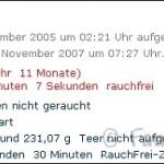 700 Tage Rauchfrei