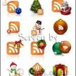 Weihnachtliche RSS Buttons