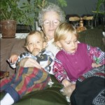 Weihnachten 1995 mit Maren & Marius