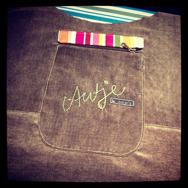 Tasche auf der Tasche #nähen #tasche #allesdrin #farbenmix