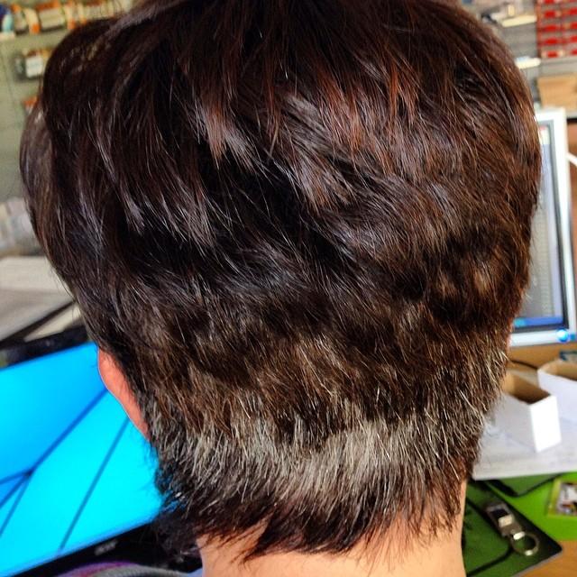 Silbernacken :D #haare #grau #frisör