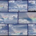 Irisierende Wolke