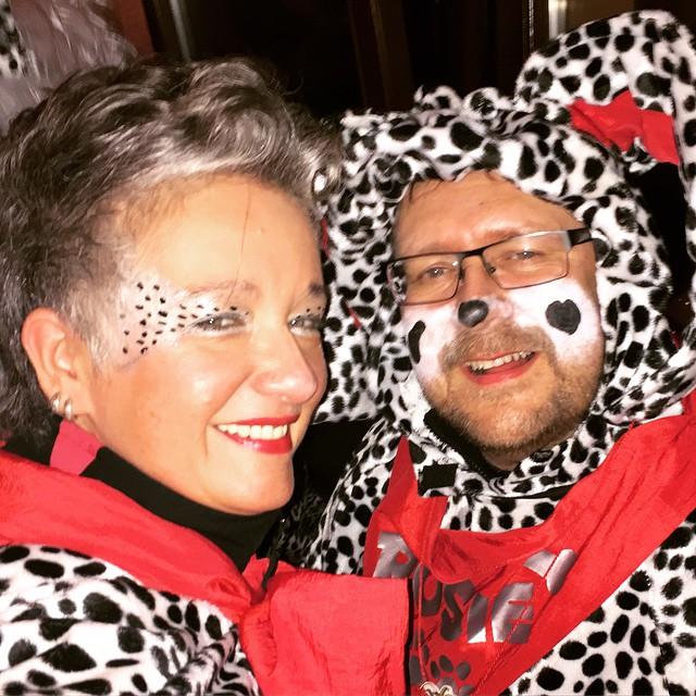 Fastnachtsamstag CruÄLA & ihrn Dalmatiner ^^ #äla #dieburg #fastnacht #strassenfastnacht #2015
