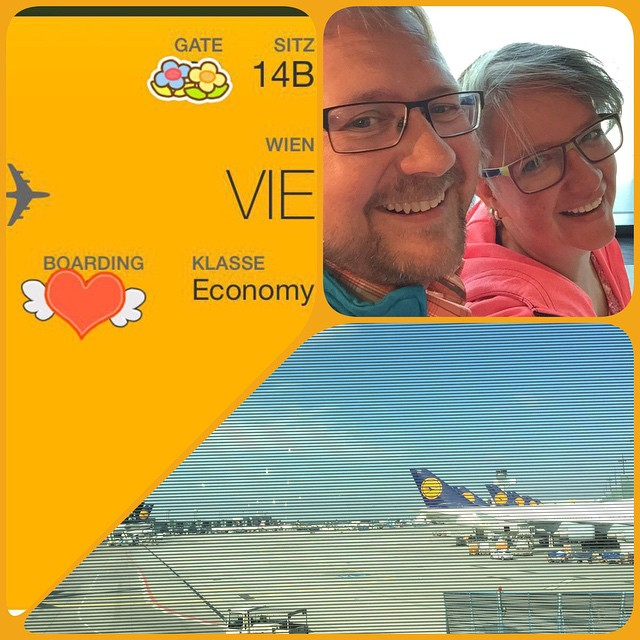 Gleich geht's los ... #Wien #Flughafen #fliegen #LH #kurzurlaub
