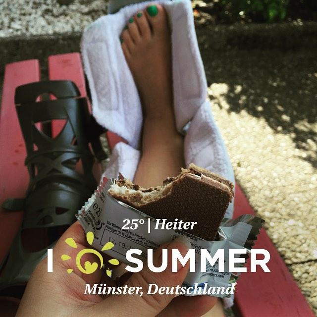 Halb zehn in D ;) #instaweatherpro #münster #day #summer #morning #hessen #wetter #wartenaufdenfahrer #fahrerichliebdich #beimarzt