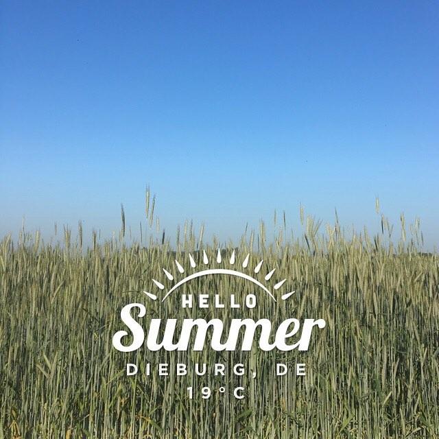 Endlich Sommer? #Wetter #Sommer #heutebis28grad #instaweather #dieburg