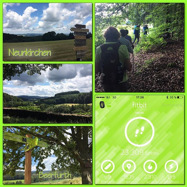 Wanderung 07/2016 *check* #owk #owkdieburg #wanderung #ohneschatzi #neunkirchen #beerfurth #14km