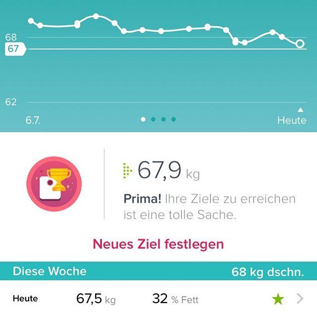 Erstes Ziel erreicht ... #abnehmen2016 #fitbit #fitbitchargehr #fitbitaria #neuesziel #minusfünfkilo #mühsamernährtsichdaseichhörnchen