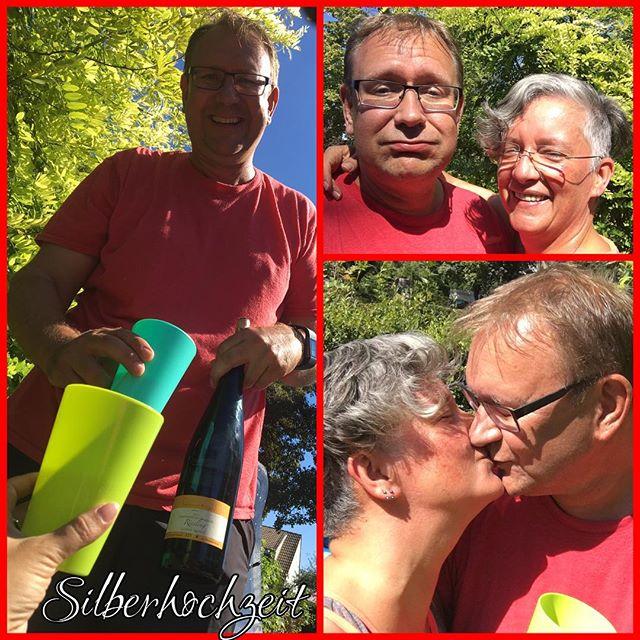 Yeah, wir haben unsere Ehe versilbert! ️ #Hochzeitstag #Silberhochzeit #ehe #liebe #wir #zusammenhalt #geborgenheit #kompromisse #stolzdrauf #aufdienächsten25 #kussi #puhgeschafft #weitergehts #jetztwollenwirgold