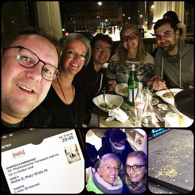 FamilienWeihnachtsding ;) #vapiano #kinopolis #darmstadt #phantastischetierwesen #pasta #popkorn #familienabend #waswillmanmehr
