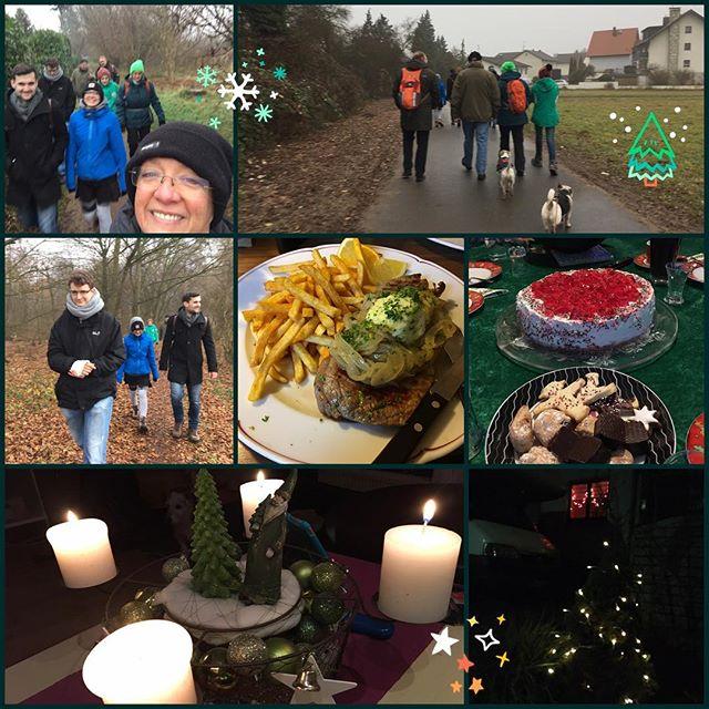 WeihnachtsWanderVöllerei ^^ schönen 4. Advent! #mitmüllers #wandern #langfeldsmühle #hergershausen #4advent #schönwars #vielzuvielgegessen